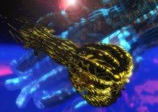 Batalla del espacio Imagen de archivo libre de regalías
