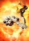 Batalla del espacio Imagenes de archivo
