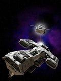 Batalla del espacio profundo Imagen de archivo libre de regalías