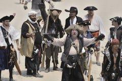 Batalla del pirata fotografía de archivo
