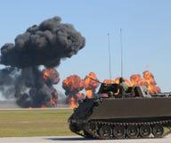 Batalla del tanque Fotos de archivo libres de regalías