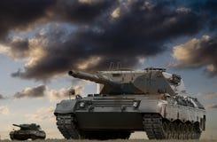 Batalla del tanque Foto de archivo libre de regalías