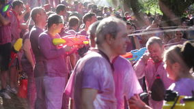 Batalla del vino - τρέλα κρασιού Haro απόθεμα βίντεο