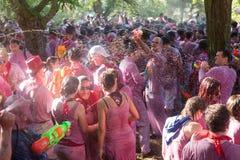 Batalla del vino - сумасшествие вина в Haro стоковые изображения rf