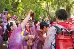 Batalla del vino in Haro, Spain Stock Photography