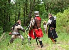 Batalla desigual Foto de archivo
