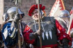 Batalla efectuada medieval - Rievocandum 2015 Imagen de archivo