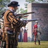 Batalla efectuada medieval - Rievocandum 2015 Fotografía de archivo