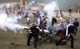 Batalla en Austerlitz Imágenes de archivo libres de regalías