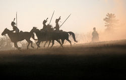 Batalla en Austerlitz 2009 Fotos de archivo libres de regalías