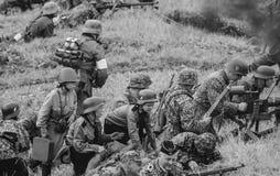 Batalla en la acción Fotos de archivo