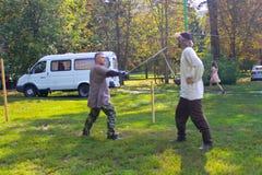 Batalla en las espadas Foto de archivo libre de regalías
