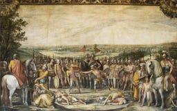 Batalla entre Horatii y Curiatii Imagen de archivo