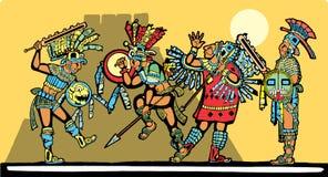 Batalla maya ilustración del vector