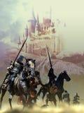 Batalla medieval stock de ilustración