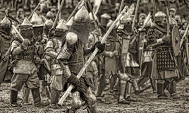 Batalla medieval Fotografía de archivo