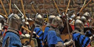 Batalla medieval Foto de archivo libre de regalías