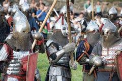 Batalla medieval Imagen de archivo libre de regalías