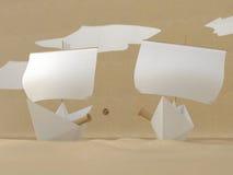 Batalla naval de papel Imagenes de archivo