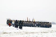 Batalla para Austerlitz Foto de archivo libre de regalías