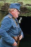 Batallas históricas militares de la reconstrucción de la Primera Guerra Mundial Imagenes de archivo