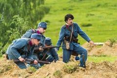 Batallas históricas militares de la reconstrucción de la Primera Guerra Mundial Fotografía de archivo libre de regalías