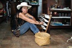 Batan Fundation - San Agustin - COLOMBIA. Craft Loom - Fundacion BATAN in San Agustin. Department of Huila. COLOMBIA Royalty Free Stock Photography