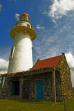 Batanes Lighthouse. A lighthouse located in Batanes, a northern province of the Philiipines that is often visited by typhoons royalty free stock image