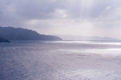 Bataneskustlijn bij zonsondergang Royalty-vrije Stock Fotografie