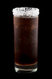 Batanga drink rimmed with salt isolated on black Royalty Free Stock Photos