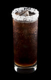 Batanga drink rimmed with salt isolated on black Stock Photography