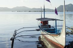 Tourist Boat Parked at Lake shore that cater to inter island travelers. Batangas, Philippines – December 25, 2015: Tourist Boat Parked at Lake shore that stock photo