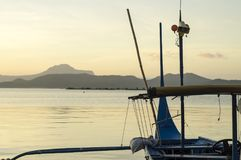 Boat Parked at Lake shore that cater to inter island travelers. Batangas, Philippines - December 25, 2015:2015: Passenger Boat that cater to inter island royalty free stock photography