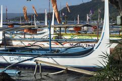 Boat Parked at Lake shore that cater to inter island travelers. Batangas, Philippines - December 25, 2015:Tourist Boat Parked at Lake shore that cater to inter stock photo
