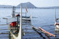 Boat Parked at Lake shore that cater to inter island travelers. Batangas, Philippines - December 25, 2015:Tourist Boat Parked at Lake shore that cater to inter stock photography