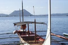 Boat Parked at Lake shore that cater to inter island travelers. Batangas, Philippines - December 25, 2015:Tourist Boat Parked at Lake shore that cater to inter royalty free stock image