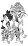 Batara Kala. Antagonist figure of traditional puppet show, wayang kulit from java indonesia royalty free illustration