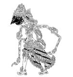 Batara Kuwera. A character of traditional puppet show, wayang kulit from java indonesia vector illustration