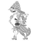 Batara Panyarikan. A character of traditional puppet show, wayang kulit from java indonesia stock illustration