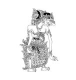 Batari Durga. A character of traditional puppet show, wayang kulit from java indonesia vector illustration