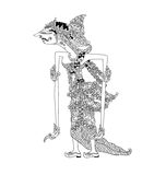 Batari Gangga. A character of traditional puppet show, wayang kulit from java indonesia vector illustration