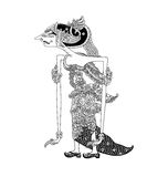 Batari Lenglengmulat. A character of traditional puppet show, wayang kulit from java indonesia royalty free illustration