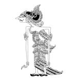 Batari Wilutama. A character of traditional puppet show, wayang kulit from java indonesia vector illustration
