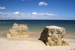 Batata Beach, Algarve, Portugal Royalty Free Stock Images