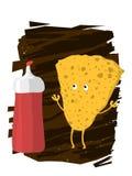 Batata Chips Character Imagens de Stock