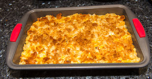Batata com queijo e pão Foto de Stock