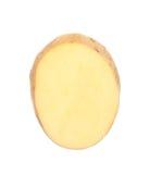 Batata cortada isolada no branco Fotografia de Stock Royalty Free