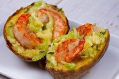 Batata da sopa de peixe do camarão Imagem de Stock Royalty Free