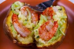 Batata da sopa de peixe do camarão Foto de Stock