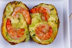 Batata da sopa de peixe do camarão Imagens de Stock Royalty Free